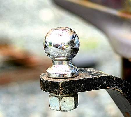 Photo of a trailer hitch ball mount