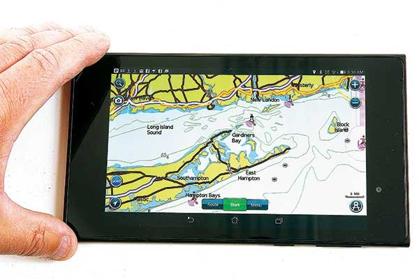 Photo of navigating using app on a tablet