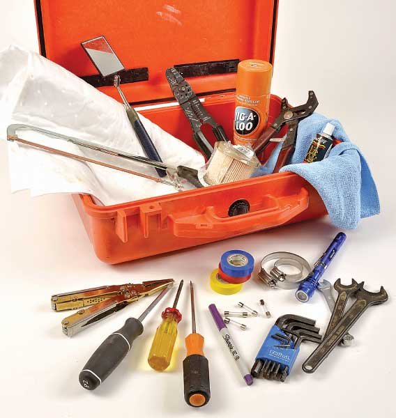 Photo of a waterproof toolbox and tools