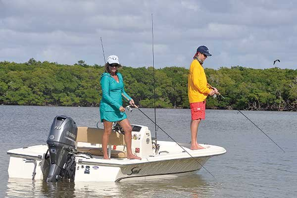 The fishing is good in the one and a half million acres of the Everglades Park