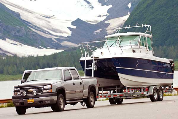 Towing boat in Alaska