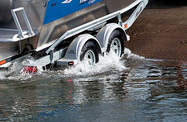Trailer tires in salt water