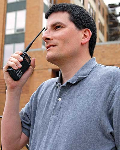 Using a handheld VHF radio