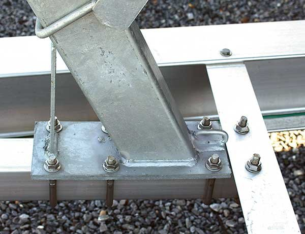 U-bolts attached to trailer