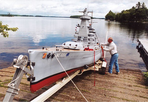 Photo of the Admiral Graf Spee replica