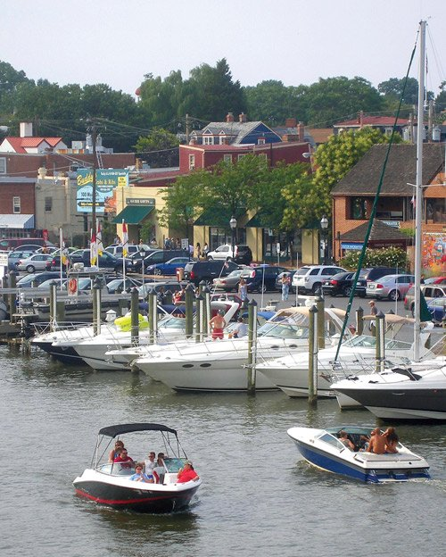 Photo of boats in Annapolis, Maryland