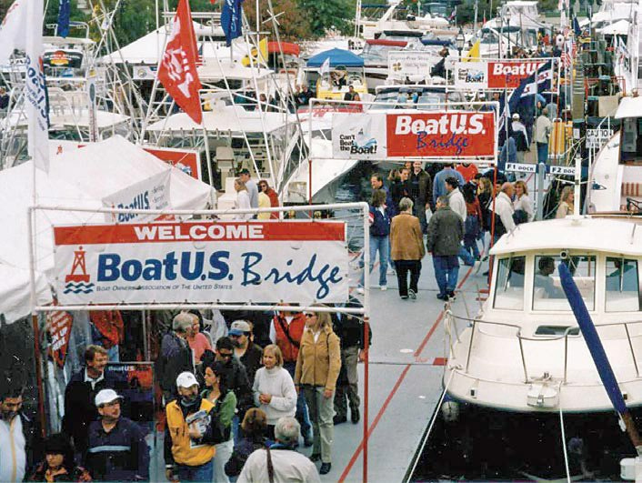 Photo of the BoatUS Bridge at the Annapolis Boat Show
