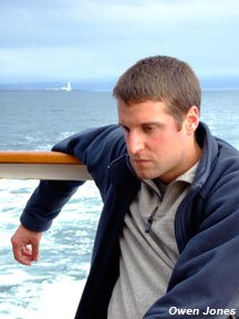 Photo of a man with seasickness