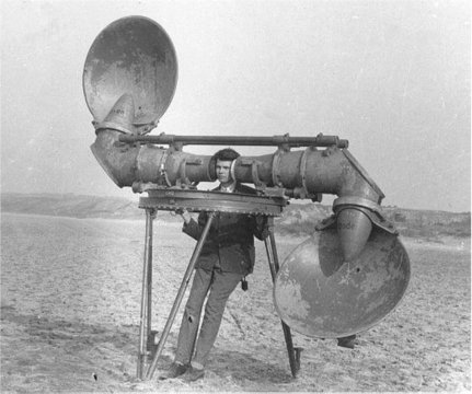 Photo of an early radar system