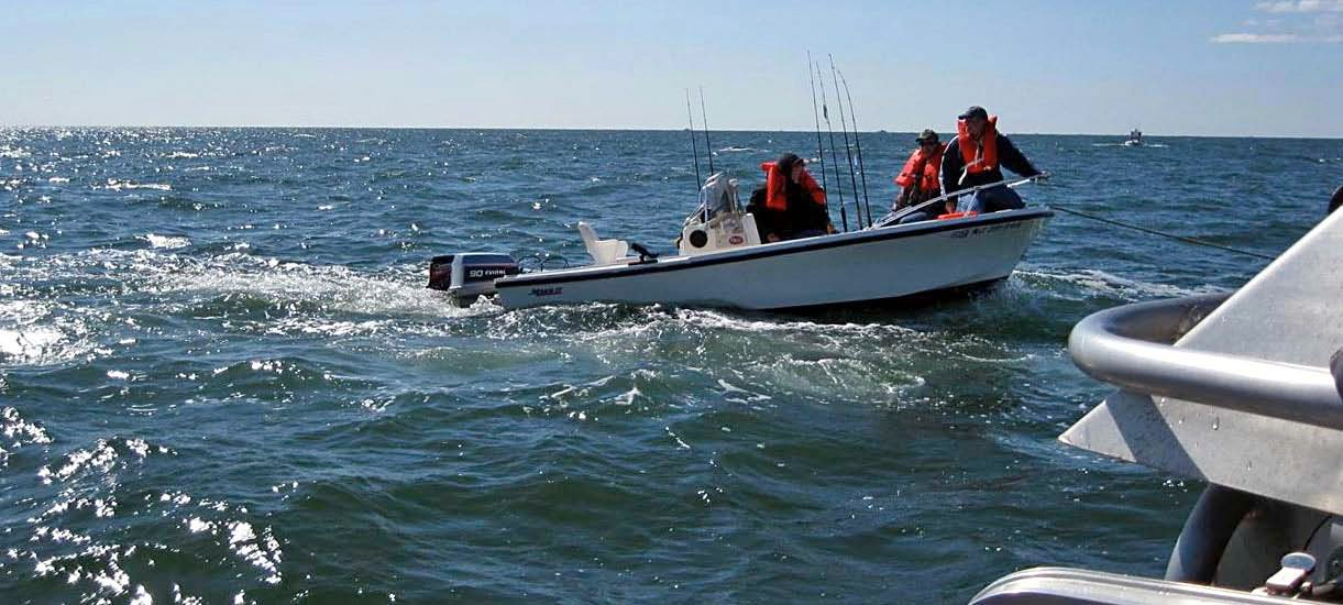 Photo of a Coast Guard rescue