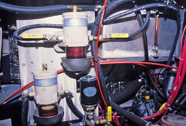 Photo of a centrifugal filter manufactured by Racor
