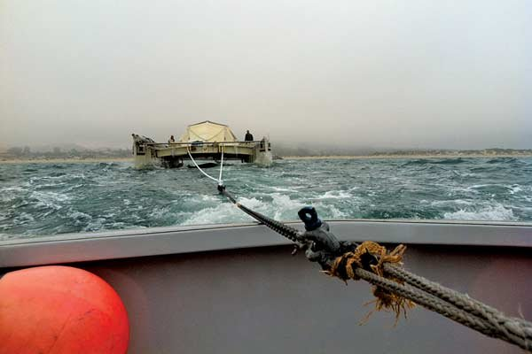 Photo of Vessel Assist towing the Plastiki to Oakland, CA