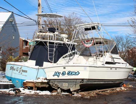 Photo of damage near Crescent Beach, Staten Island, N