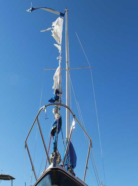 Photo of a sailboat mast