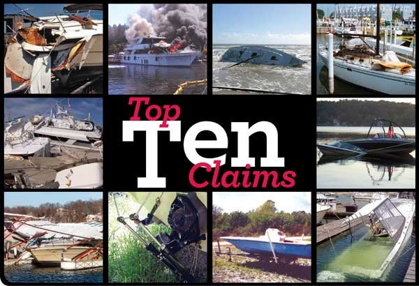 Top Ten BoatUS Marine Insurance Claims photo collage