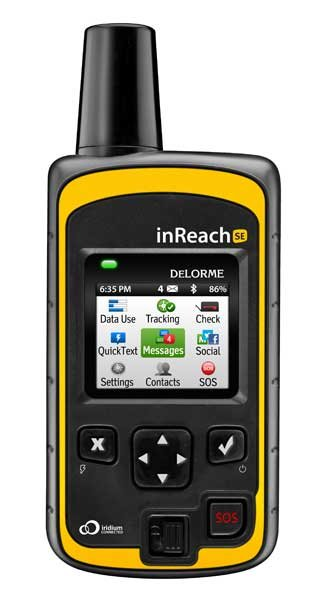 Photo of a Delorme InReach satellite messenger