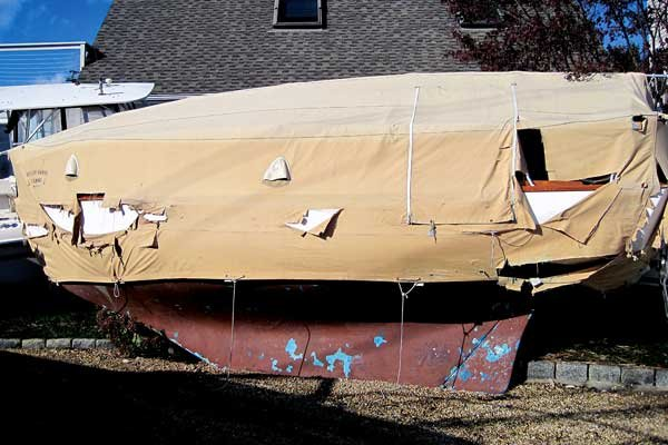 Photo of Hurricane Sandy damaged Howkola II