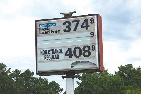 Photo of No Ethanol sign