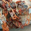 Thumbnail photo of a rusty mooring chain