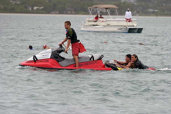 Photo of a jetski rescue on a lake