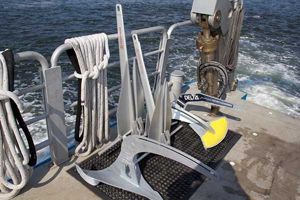Photo of anchors waiting to be tested