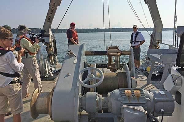 Photo of the test deck of the r/v Rachel Carson