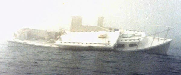 Photo of a boat collision in restricted visibility