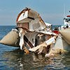 Boat collision damage