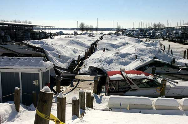 Photo of Bohemia Bay Marina damage