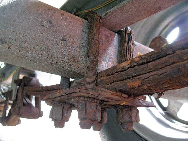 Photo of corroded steel
