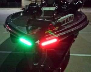 Photo of LED bow lights red and green