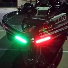 LED bow lights red and green