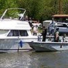 Police ticketing boat owner