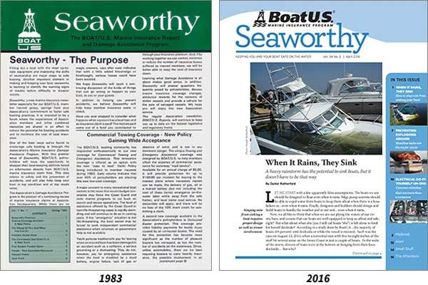Seaworthy magazine covers then and now