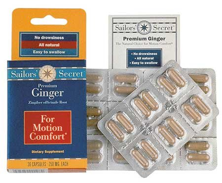 Photo of ginger tablets for seasickness relief