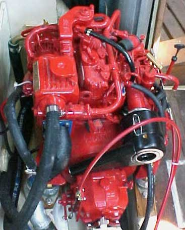 Photo of a marine diesel engine
