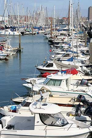 Photo of a crowded marina