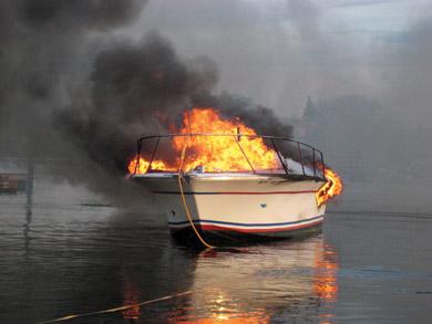 Boat On Fire - Get Boat Insurace