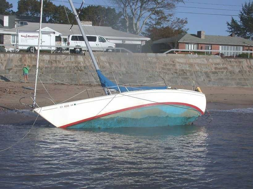Salvage: Beached Sailboat
