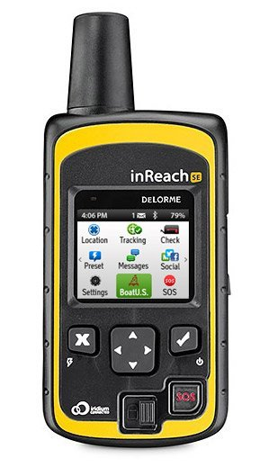 photo of DeLorme inReach SE with BoatUS icon